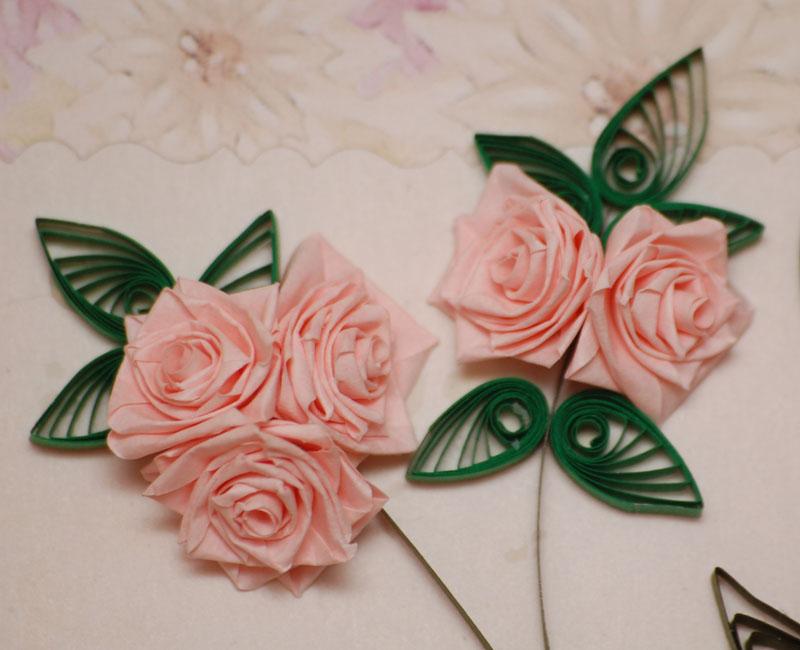розы в технике квиллинг.